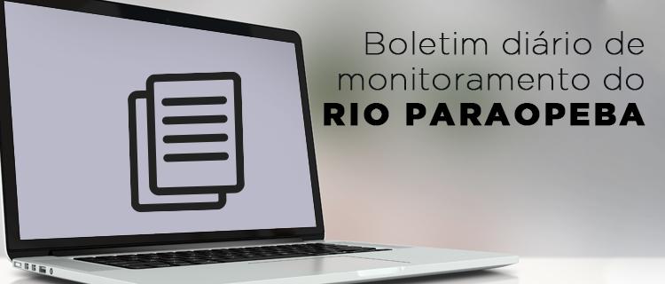 Banner para o Boletim Diário de Monitoramento do Rio Paraopeba